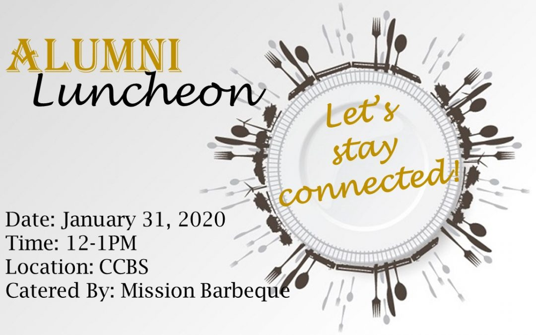 CCBS Alumni Invitation to the 2020 Winter Luncheon