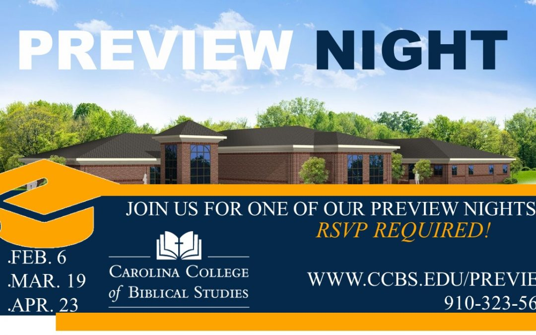 Experience Life as a CCBS Student at Preview Night!