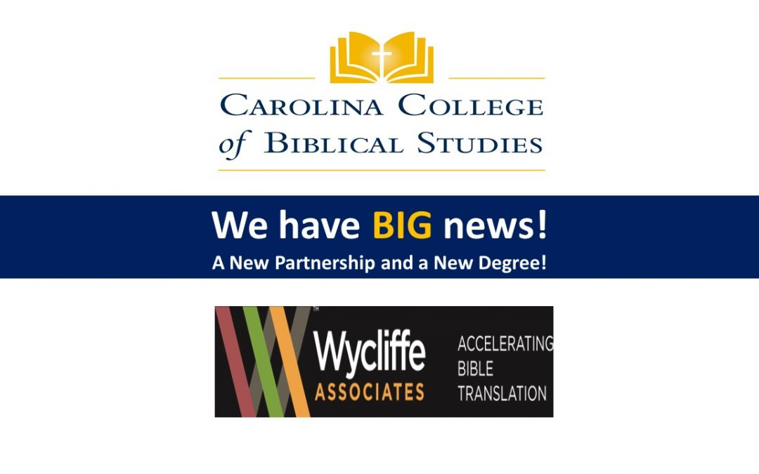 CCBS Partners to Promote Bible Translation